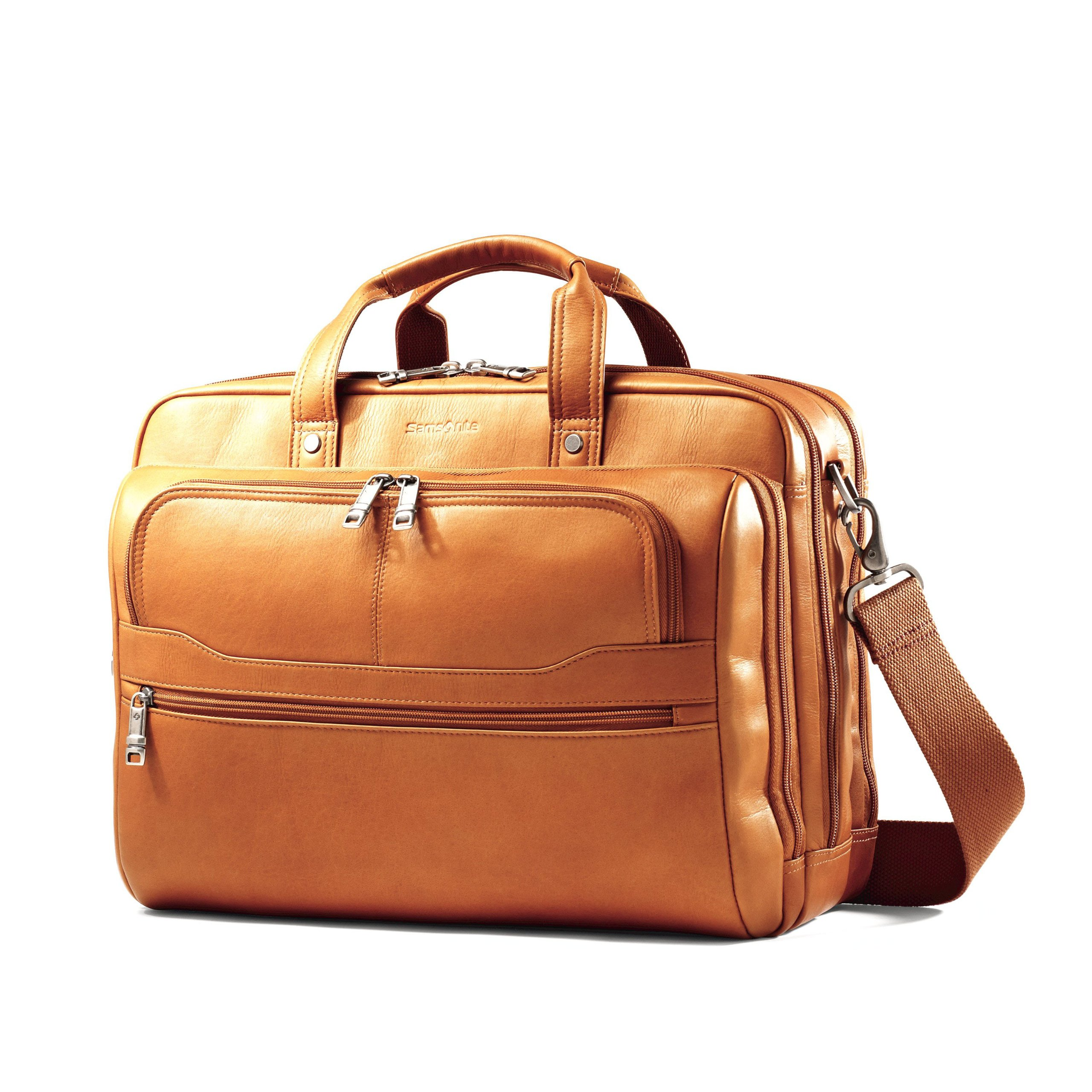 Samsonite Vachetta Leather 2 Pocket Business Case Tan by Samsonite