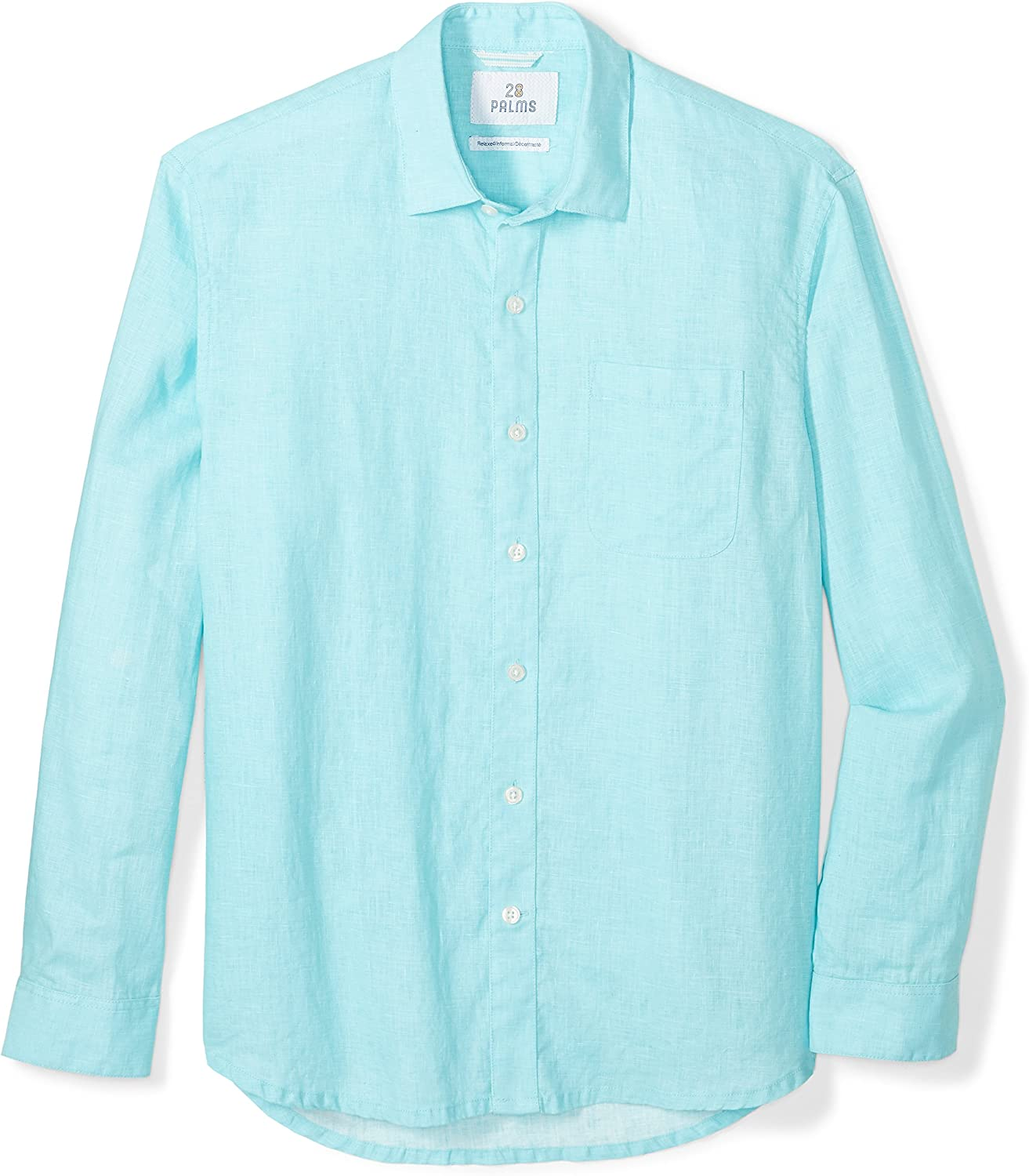 28 Palms Mens Relaxed-Fit Long-Sleeve 100/% Linen Embroidered Guayabera Shirt Brand