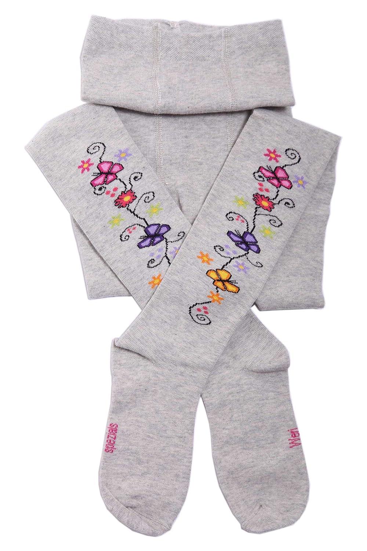 Silver Weri Spezials Baby and Children Tights Flower Pattern