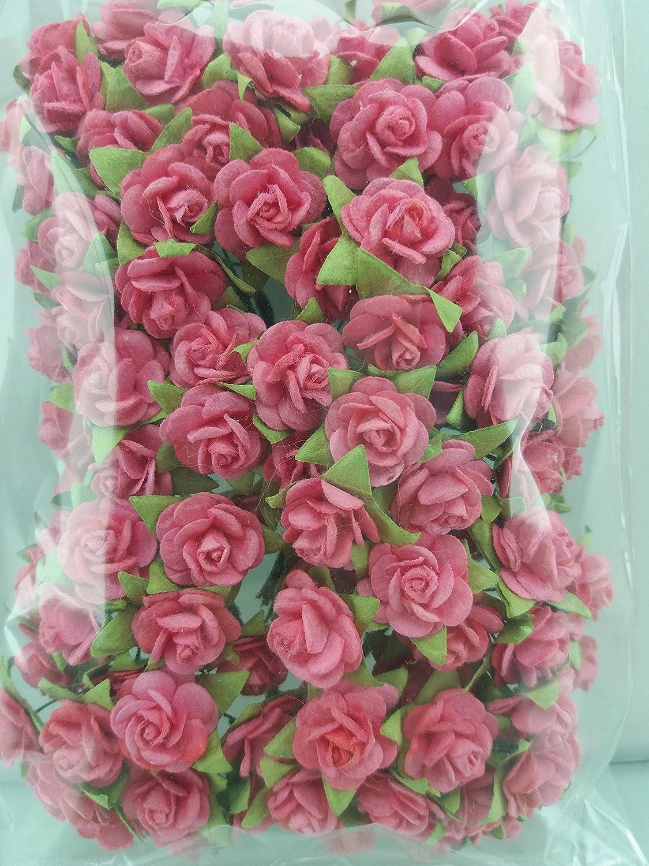 Amazon 100 Raspberry Rose Mulberry Paper Flower Scrapbook