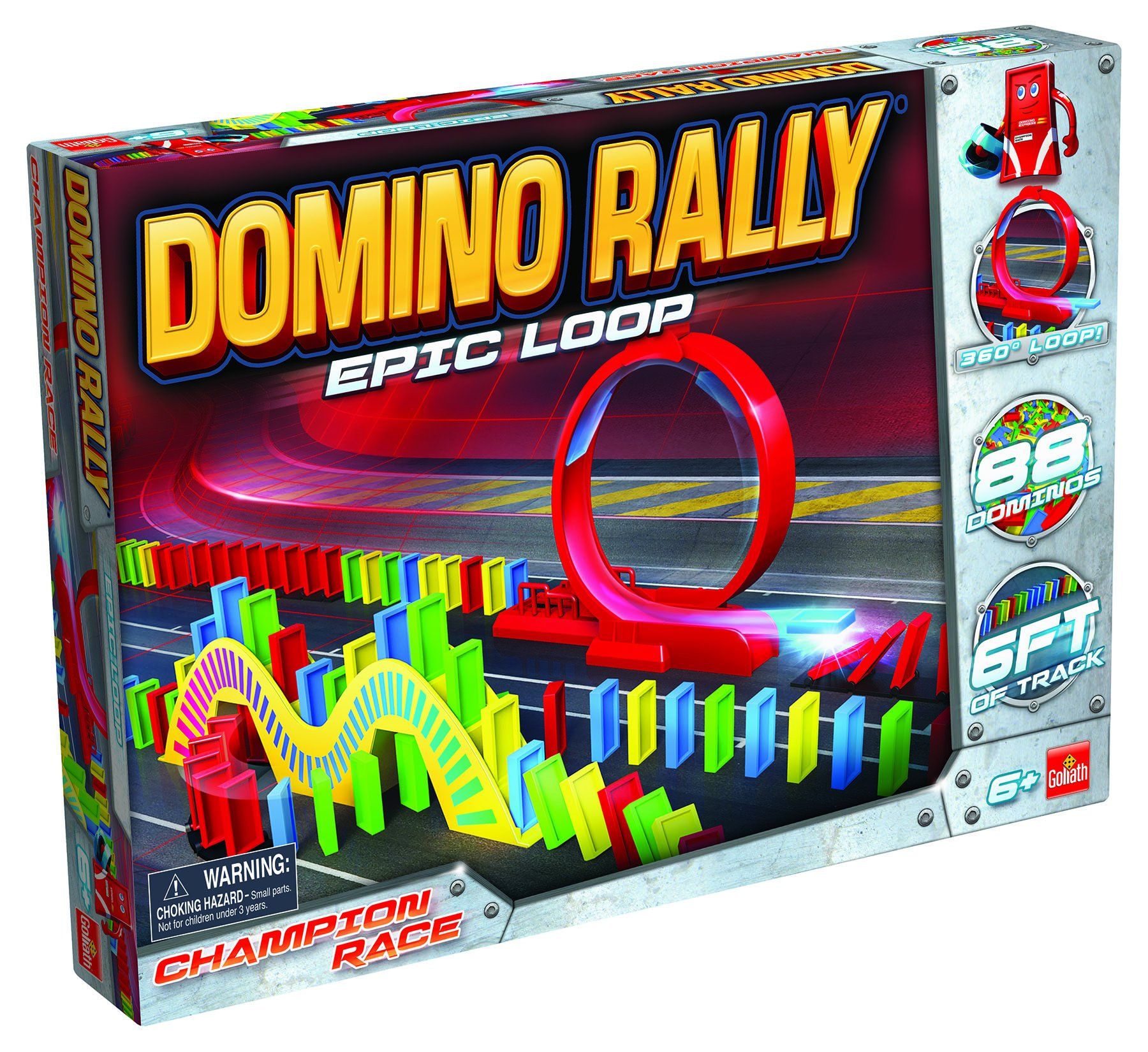 Goliath Games Domino Rally Epic Loop - Dominoes for Kids - STEM-based Domino Set for Kids