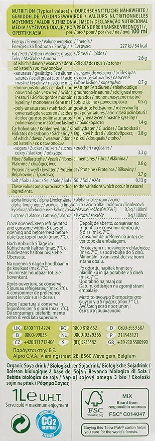 provamel soja Drink Omega de 3, 1er Pack (1 x 1 l): Amazon.es: Alimentación y bebidas