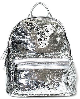 Pailletten Rucksack Backpack Xl Ibiza Handtasche Damen Glitzer In