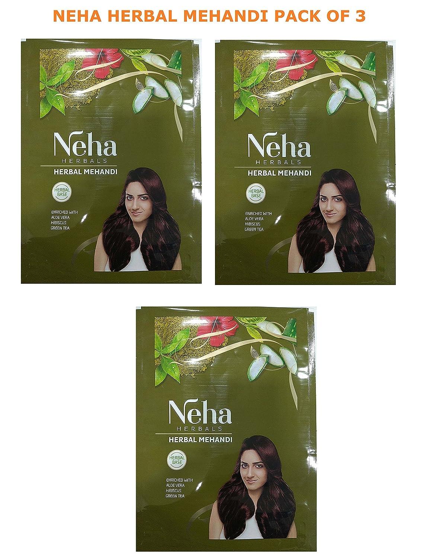 Neha Herbal Mehandi 100% Herbal Enriched With Green Tea, Aloe Vera, Habiscus 140gm