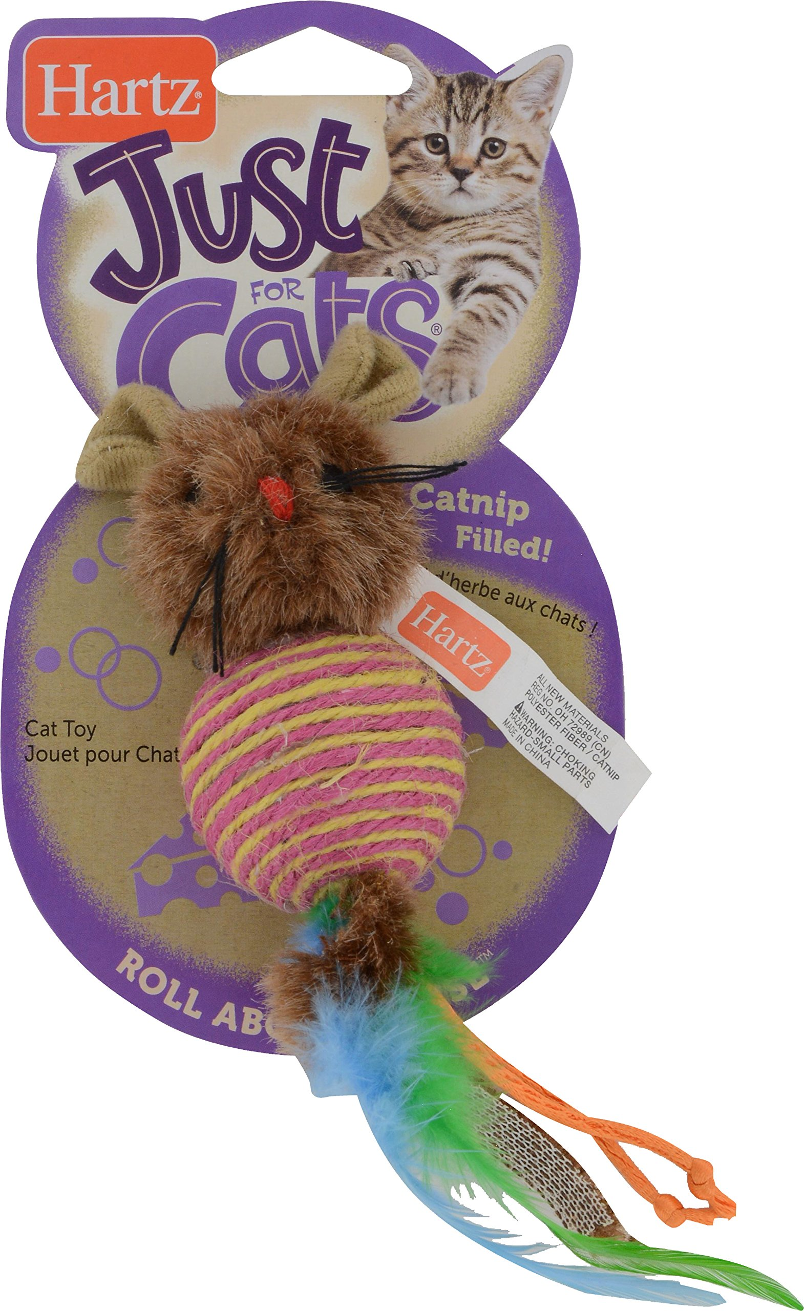 Hartz Just For Cats Roll About Mouse Catnip Toy