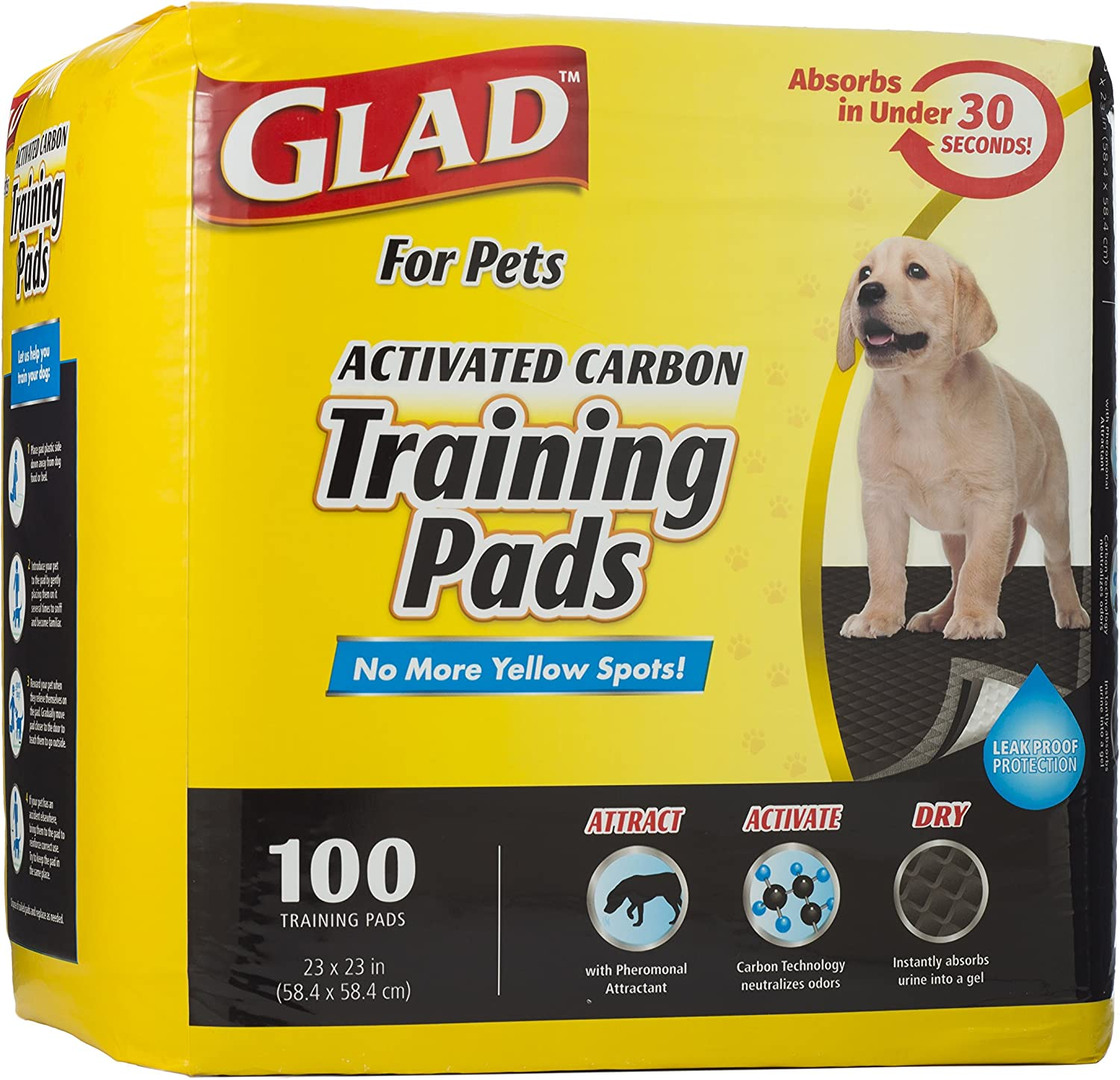 Glad for Pets Activated Carbon Puppy Training Pads