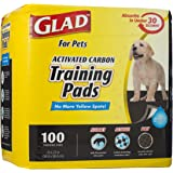 Glad for Pets Activated Carbon Dog Pee Pads | Puppy Training Pads for Absorbing Odor and Urine, 100 Count