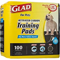 Glad for Pets Black Charcoal Puppy Pads | Puppy Potty Training Pads That Absorb & Neutralize Urine Instantly | New & Improved Quality Puppy Training Pads