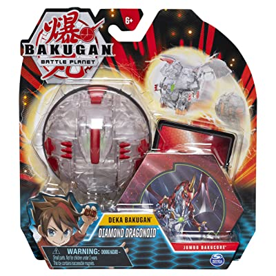 Bakugan Deka, Diamond Dragonoid, Jumbo Collectible Transforming Figure, for Ages 6 & Up: Toys & Games