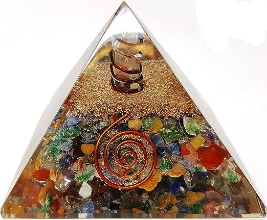 Cristal de cuarzo rosa pir/ámide Reiki de org/ón Kit//incluye 4/cristal cuarzo puntos de energ/ía//EMF protecci/ón Meditaci/ón Yoga Generador de energ/ía