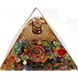 7 Chakra Crystal Orgone Pyramid Kit / Includes 4 Crystal Quartz Energy Points / EMF Protection Meditation Yoga Energy Generator