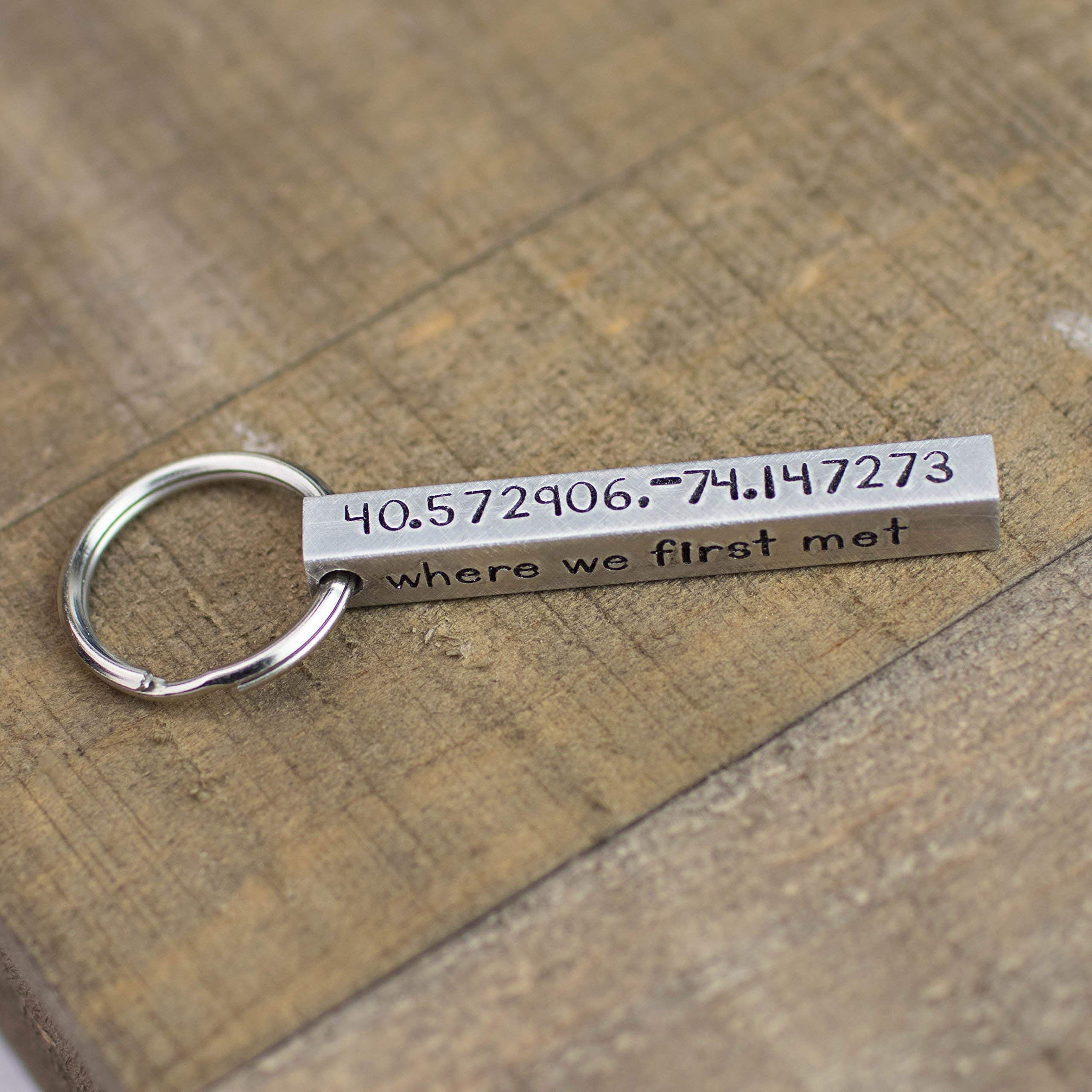 Custom Personalized Long Aluminum Bar Keychain