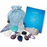 NEW Crystals for Relaxation, Stress Relief, Anxiety, Sleep/11 pc CALM Crystal Healing Set - Amethyst, Lepidolite, Fluorite, Smoky Quartz, Howlite, Sage & More + Informational Booklet/Gift Ready
