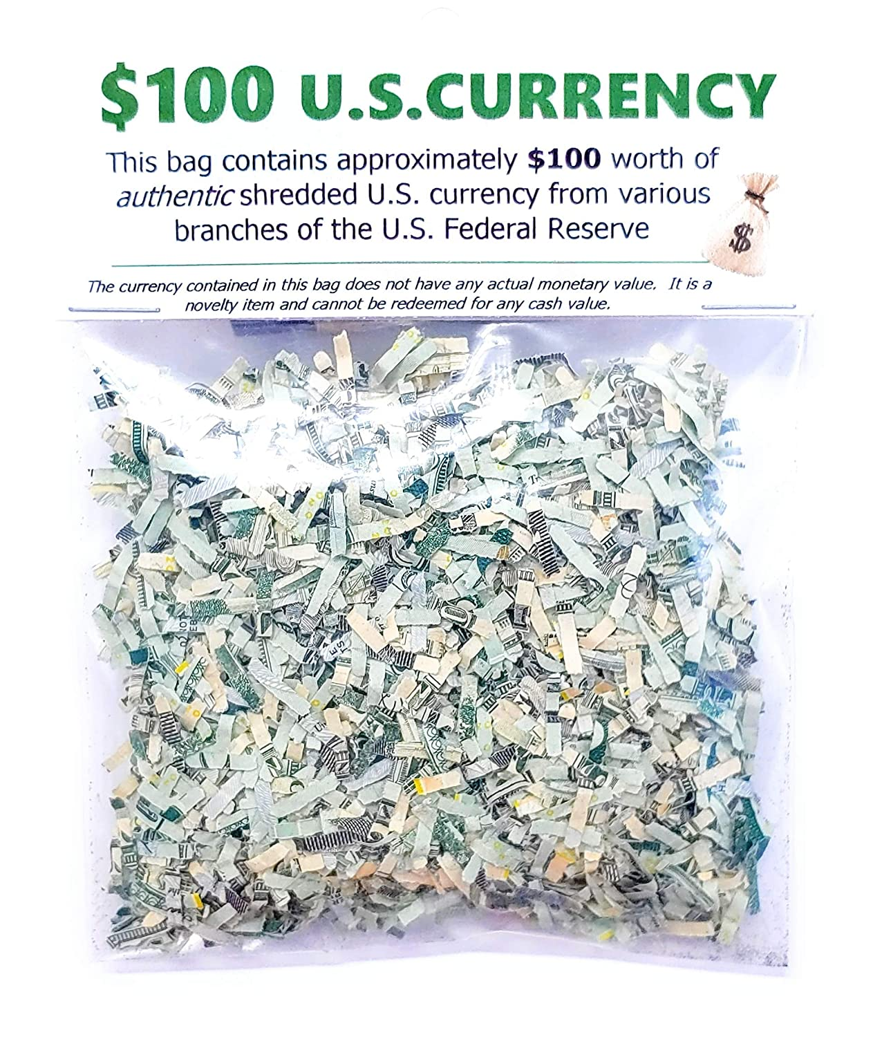 Shredded US Money CASH Currency $100 Genuine Confetti Size Stocking  Stuffers Surprise Gift