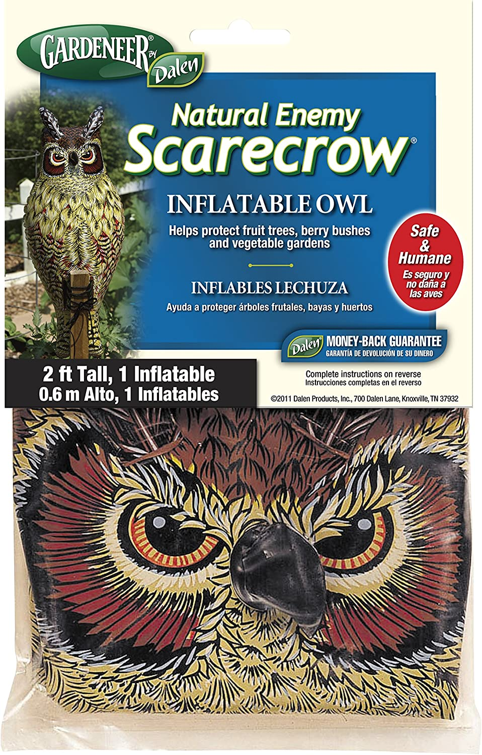 Gardeneer By Dalen Natural Enemy Scarecrow Inflatable Owl