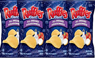 product image for Lay's Ruffles Potato Chips,All Dressed,220g/7.8oz (4pk) {Imported from Canada}