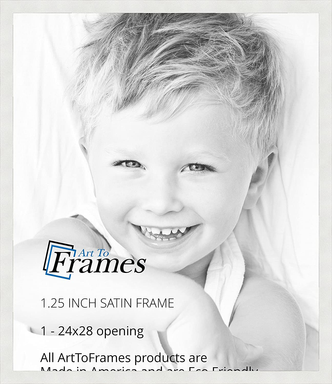 Amazon.com - ArtToFrames 24x28 inch Satin White Frame Picture Frame ...