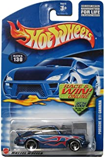 Hot Wheels Porsche 911 Carrera 2002 #130 Race and Win Card 3spokes [Toy]