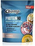 Champ Protein 90 Eiweißpulver, Proteinpulver mit 85% Eiweißgehalt zum Kochen & Veredeln, geschmacksneutral, 360 g