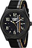 Cat Men's Quartz Watch with Black Dial Analogue Display and Multicolour Fabric Strap PO.161.64.134