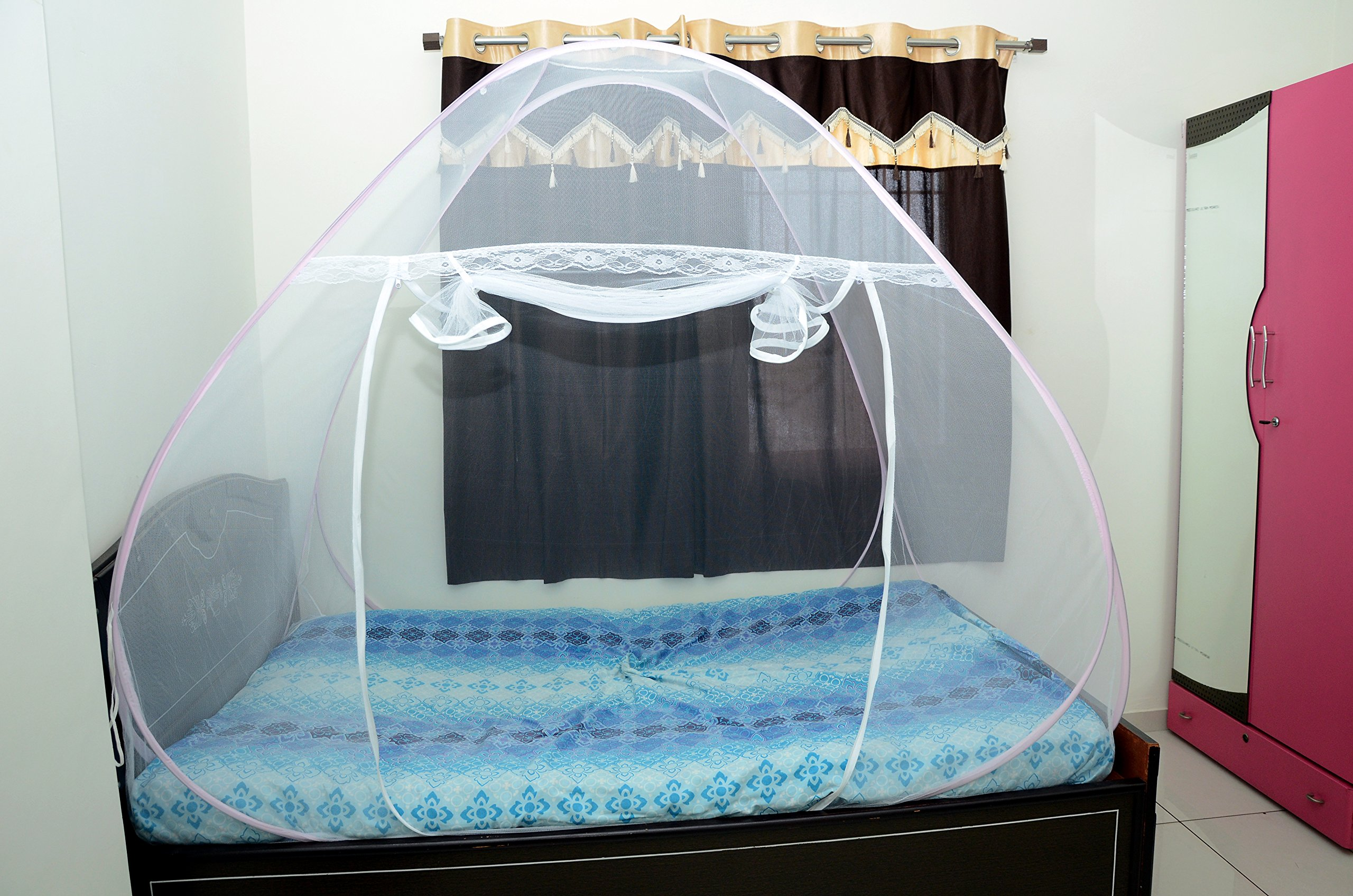 Royal Foldable Single Bed Mosquito Net (Pink) product image