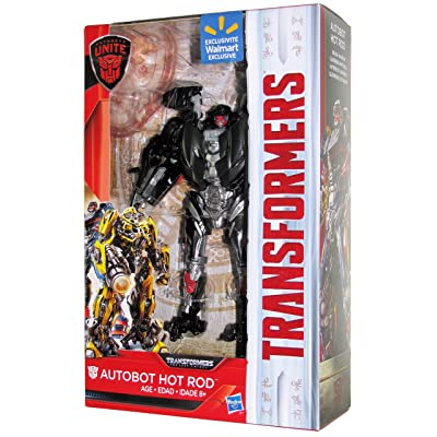 Transformers The Last Knight Walmart Exclusive Autobots Unite Deluxe Autobot Hot Rod: Toys & Games