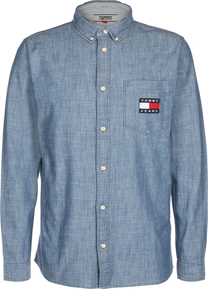 Tommy Hilfiger Camisa Vaquera TJM Chambray Badge 7922-1A5 (Small): Amazon.es: Ropa y accesorios