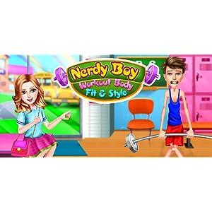 Nerd Chico - Rutina de ejercicio Ajuste & Estilo: ¡Los niños pueden obtener consejos de ejercicios y verse más guapos con este juego gratuito!: Amazon.es: Appstore para Android