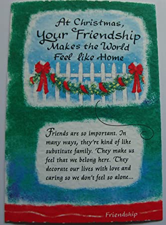 Mountain Christmas Cards.Blue Mountain Arts Friend Christmas Card Friendship Makes The World Feel Like Home