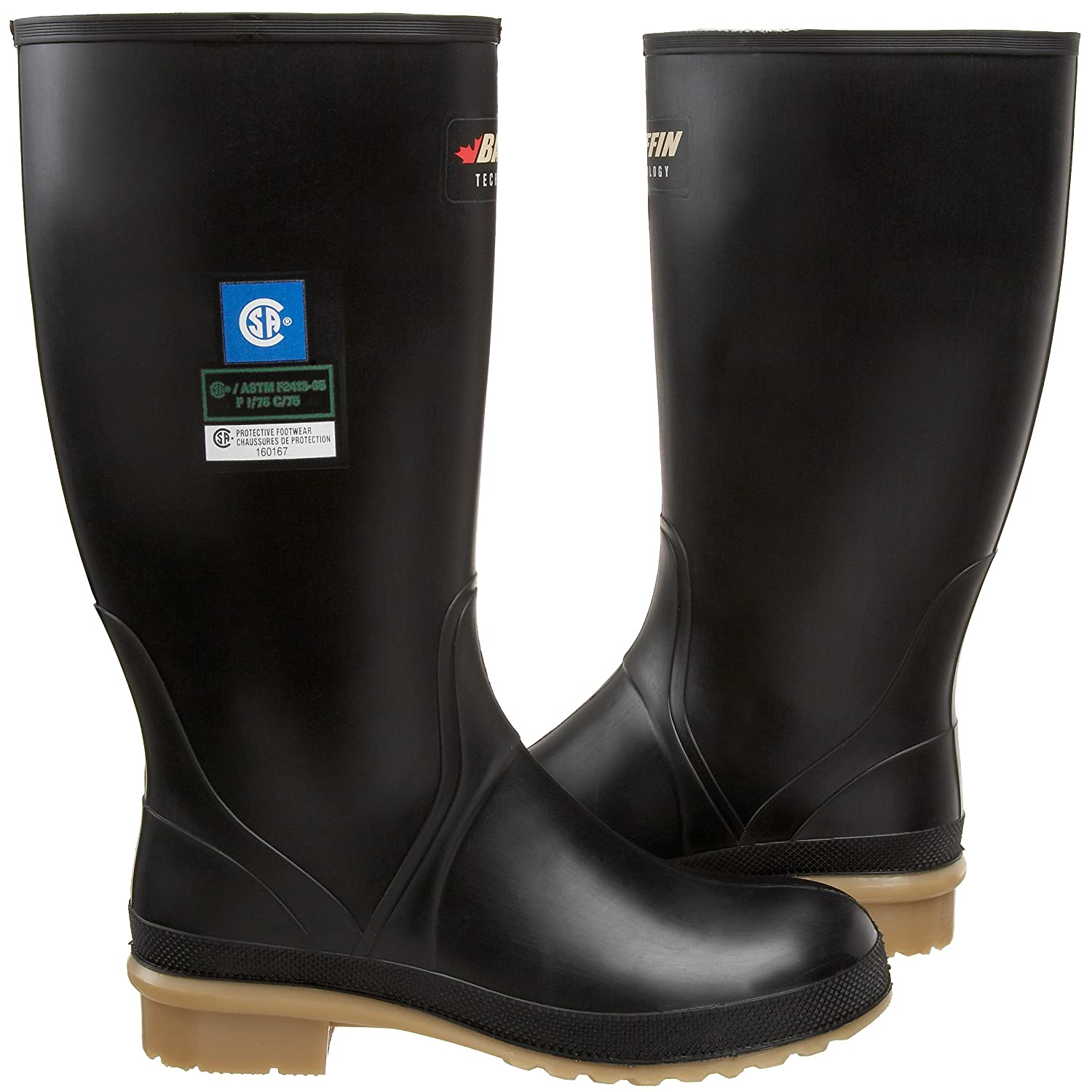 Baffin Women's Processor Canadian Made Industrial Rubber Boot B002BH4GQ4 5 B(M) US Black/Amber