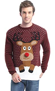 94cd8427a022 Alex Stevens Men s Reindeer Lights Ugly Christmas Sweater at Amazon ...