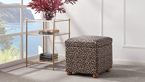 Jennifer Taylor Home Jacob Storage Ottoman, Leopard