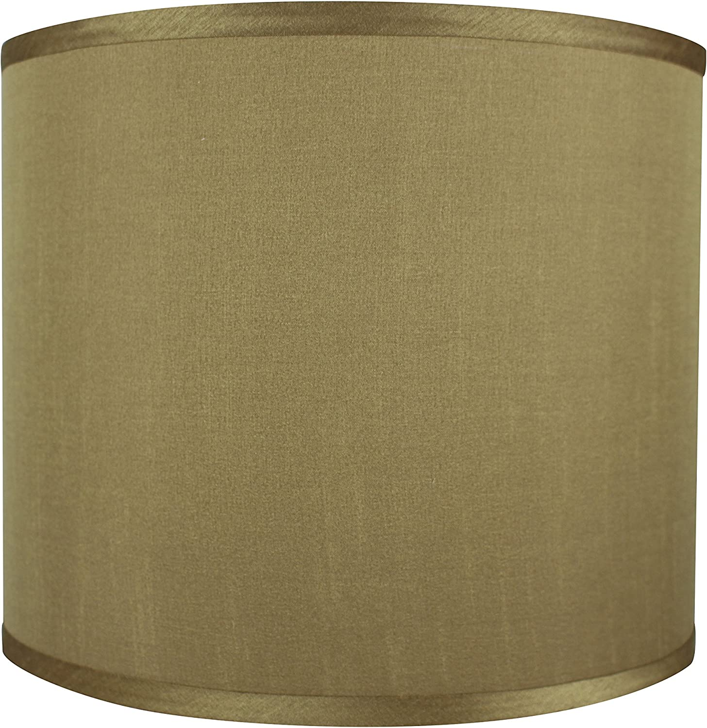Urbanest Faux Silk Drum Lampshade 12 Inch By 12 Inch By 10 Inch Gold Spider Fitter