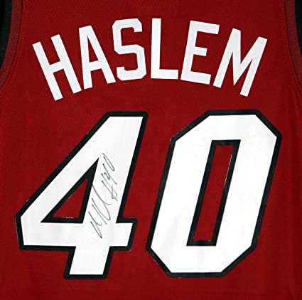 competitive price c6d9f c367e Udonis Haslem Miami Heat Signed Autographed Red #40 Jersey ...