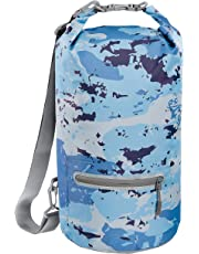 Skog Å Kust DrySåk Waterproof Floating Dry Bag with Exterior Zippered Pocket | for Kayaking, Rafting, Boating, Swimming, Camping, Hiking, Beach, Fishing | 10L & 20L Sizes