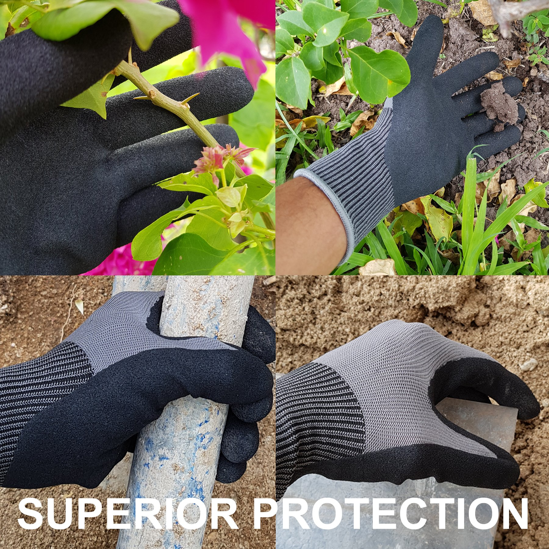 Knee Armor Heavy Duty Professional Knee Pads with Gel Cushions, EVA Foam, Adjustable Straps, Bonus Protective Gloves. Superb Knee and Hand Protection. Perfect for Construction, Gardening and More by Knee Armor (Image #7)