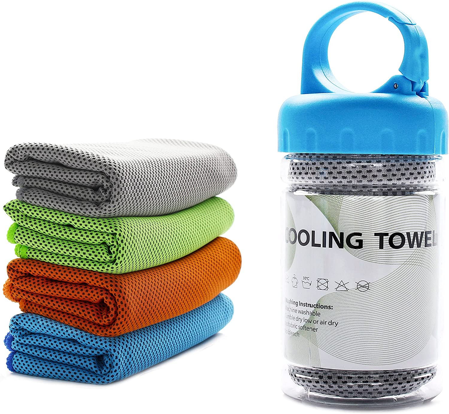 """TANCANO Cooling Towel Microfiber Sports Towel Sweat Towel for Golf Workout Swimming Gym Yoga Travel Camping Fitness 40""""x12"""" Sweat Towel"""