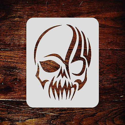 Plantilla de calavera – 7,5 x 10 cm (S) – Halloween Tatuaje ...