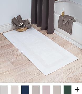 Cotton Bath Mat  Plush 100 Percent Cotton 24x60 Long Bathroom Runner   Reversible  Soft. Amazon com  Cotton Bath Mat  Plush 100 Percent Cotton 24x60 Long
