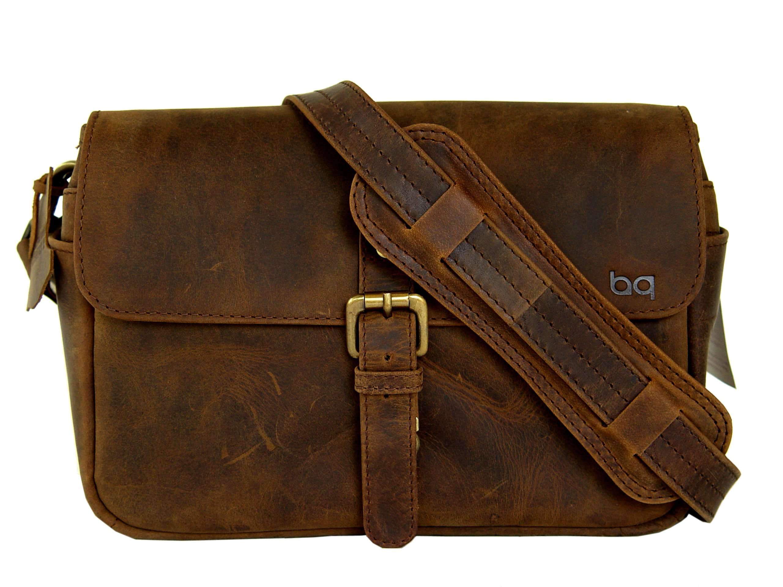 BASIC GEAR: Leather Camera Bag in Vintage Rustic Look For DSLR- Mirrorless Sony, Nikon, Canon, Pentax camera. by Basic Gear