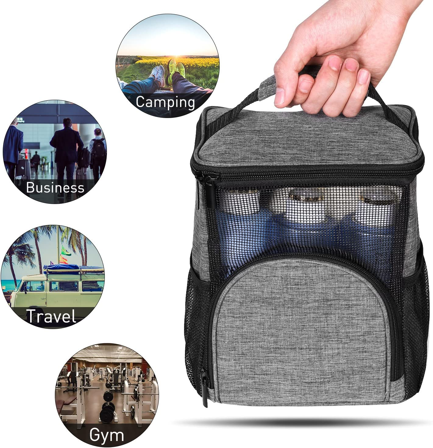 Blue Camp Women Men Hanging Toiletry Bag,Bath Organizer with Quick Dry Technology Gym KUSOOFA Shower Caddy Tote Bag Bath Organizer for College Dorms