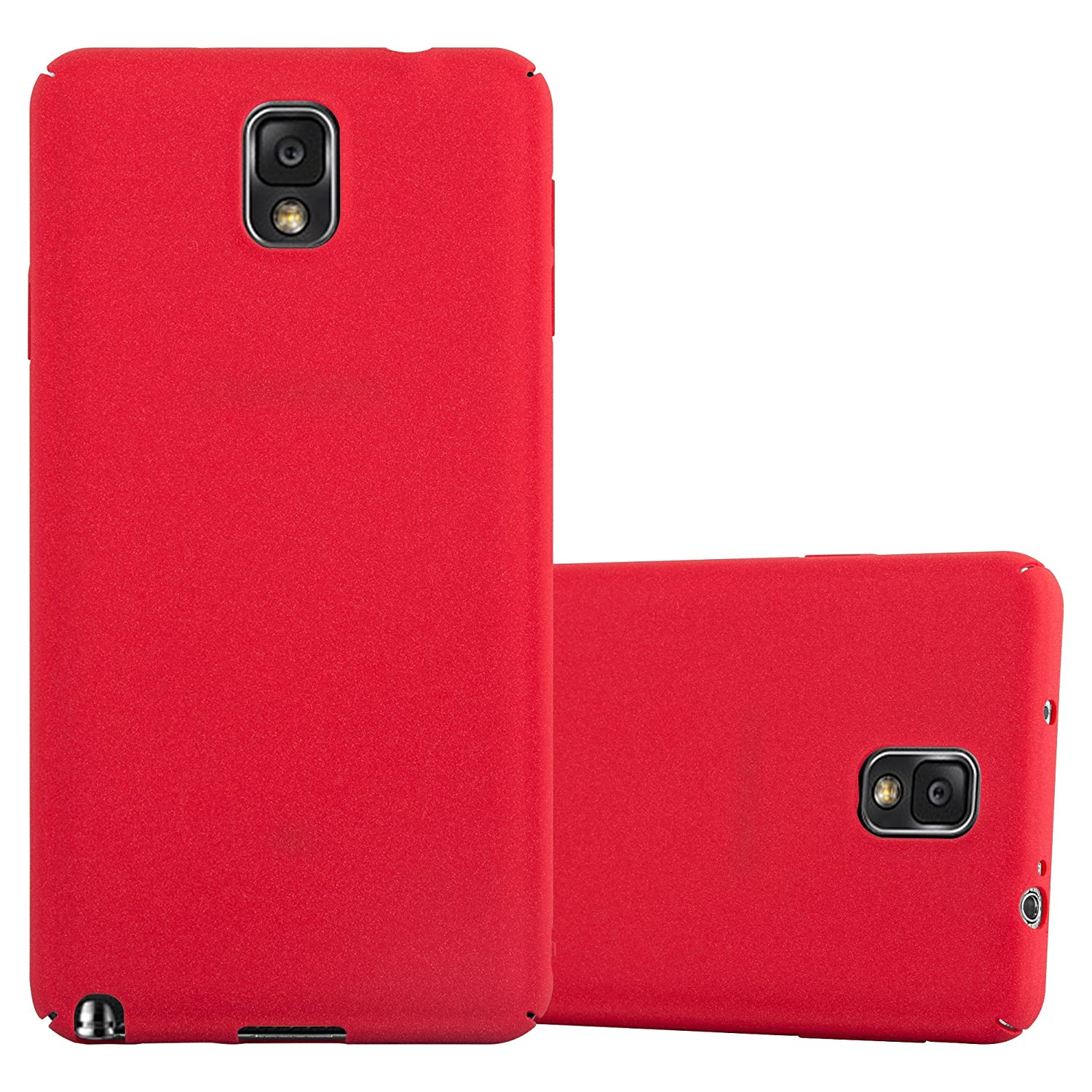 Cadorabo Case Works with Samsung Galaxy Note 3 in Frosty RED – Shockproof and Scratch Resistent Plastic Hard Cover – Ultra Slim Protective Shell ...