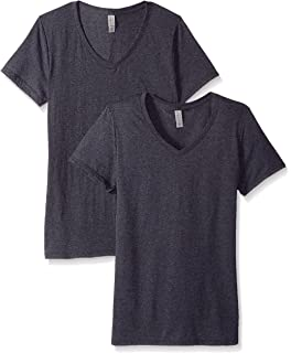 a362b24a Jerzees Womens TRI-BLEND Classic Fit V-Neck T-Shirt at Amazon ...