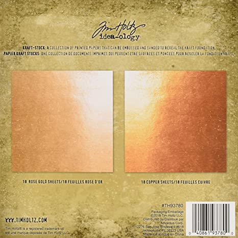 Tim Holtz Idea-ology Metallic 2 Kraft-Stock Copper Rose Gold