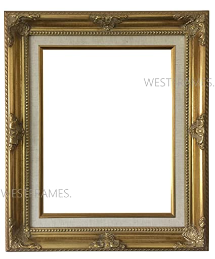 Amazon.com - West Frames Estelle Antique Gold Leaf Wood Picture ...