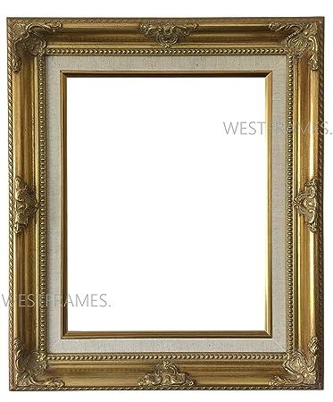 Amazon West Frames Estelle Antique Gold Leaf Wood Picture