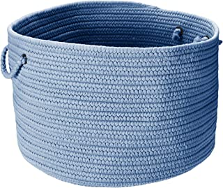 product image for Colonial Mills BR55 18 by 18 by 12-Inch Boca Raton Solid Storage Basket, Blue Ice