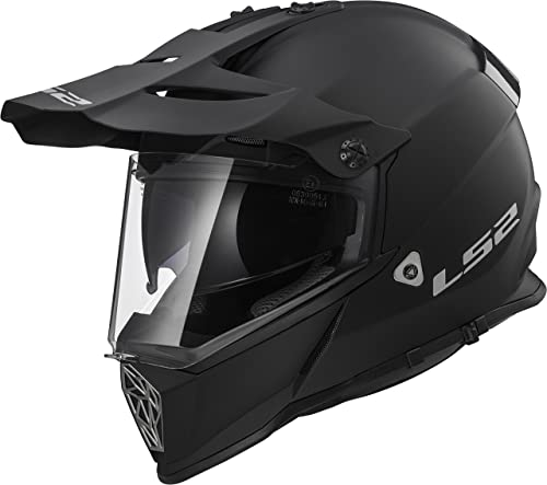 LS2 Helmets Unisex-Adult Off-Road-Helmet-Style Adventure (V2 Matte Black, X-Large)