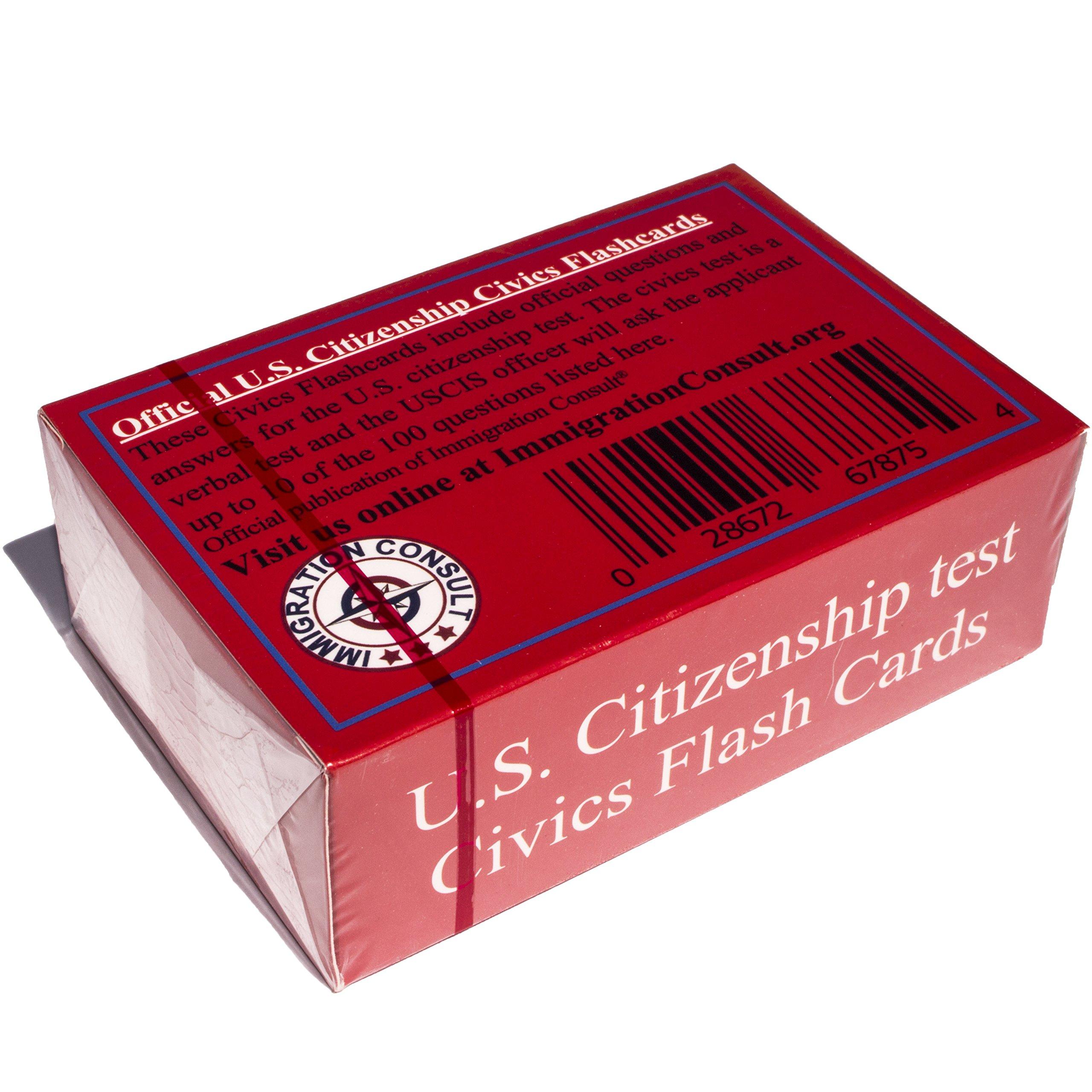 Amazon.com: US Citizenship test civics flash cards for the ...