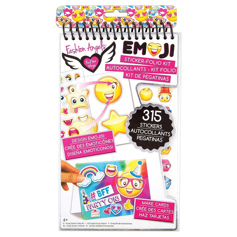 Fashion Angels 12107 Emoji Sticker Compact Portfolio Fashion Angels Enterprises 12017